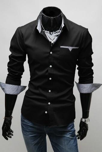 Camisa Casual Slim Fit Con Detalles En El Bolsillo Cuello