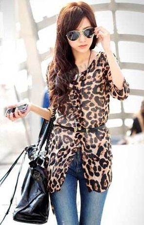 Blusa Fashion Moderna en Leopardo