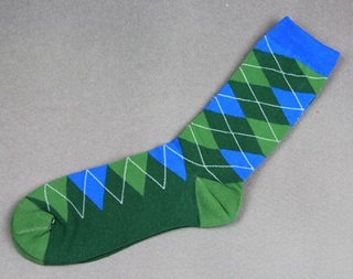 Colorful Modern Fashion Sock - Green/Blue