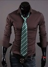 Camisa Social Slim Fit Estilo Luxury Lisa - en 10 Colores en internet