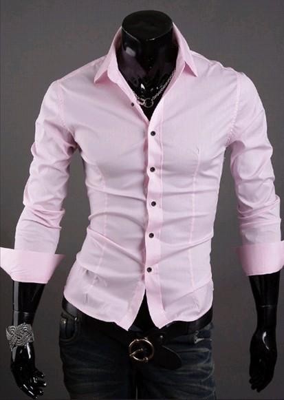 diseño hábil 2019 mejor atractivo y duradero Camisa Social Slim Fit Estilo Luxury Lisa - en 10 Colores