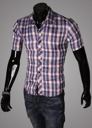 Casual Young Shirt - Checked - Red / White