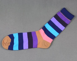 Colorful Modern Fashion Sock - Blue/Purple