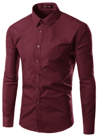 Casual Shirt Fashion Solid - Any Occasion - in 17 Colors