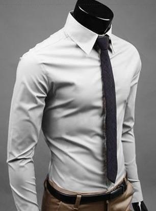 dd6acd7ab6 ... Camisa Social Slim Fit Lisa de Alta Calidad - en 12 Colores - Camisas  de Hombre ...