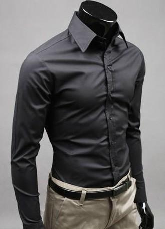 venta caliente barato estilo de moda disfruta del precio de descuento Camisa Social Slim Fit Lisa de Alta Calidad - en 12 Colores