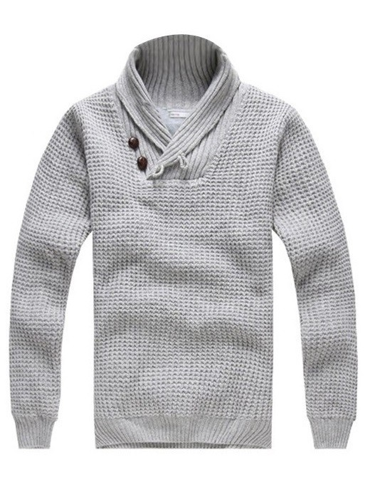 Sweater Moderno Tejido Fashion - Gris