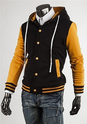 Modern Sport Coat with Hood - Yellow