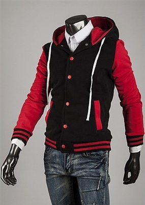 Modern Sport Coat with Hood - Red