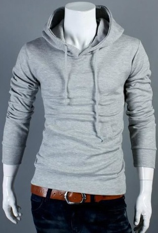 Hooded jacket - Slim Fit - Grey - buy online