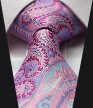TF3004P8 Purple Pink Floral Paisley 3.4