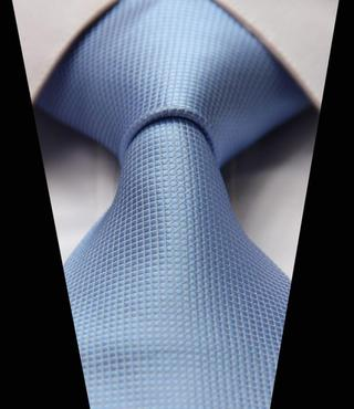 TL1004B Pure Blue Solid Woven Classic 100%Silk Man's Tie Necktie