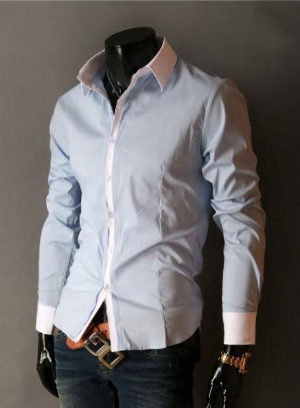 7e5c2b8075 ... Camisa de Vestir Slim Fit Estilo Luxury Clásica - en 5 Colores -  comprar online ...