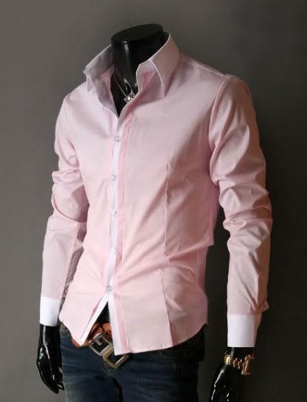 584204f8e55 ... Camisa de Vestir Slim Fit Estilo Luxury Clásica - en 5 Colores - Camisas  de Hombre ...