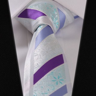 Corbata Slim Fancy - a Rayas - Purpura