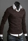 Sweater Casual Slim Fit Manga Larga Clásico - en 6 Colores - comprar online