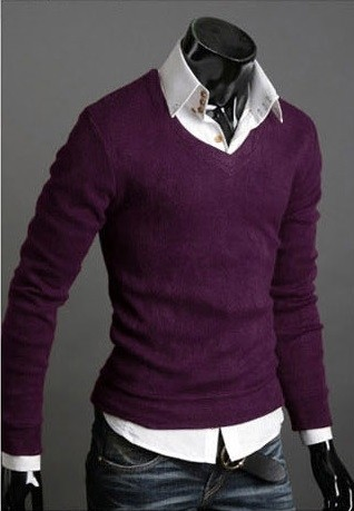 Sweater Casual Slim Fit Manga Larga Clásico - en 6 Colores en internet