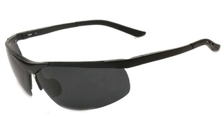 Male Polarized Sunglasses - Aluminum Alloy and Magnesium - Black Frame