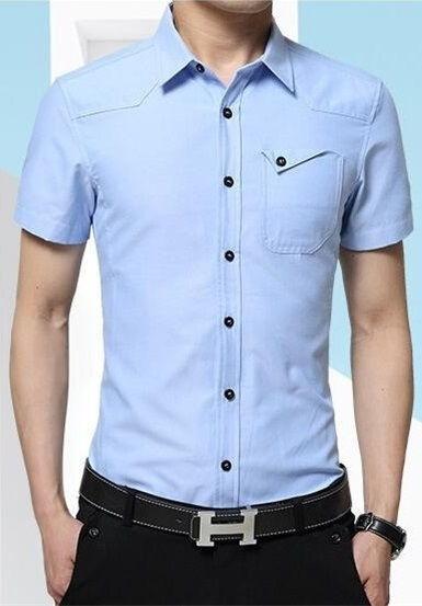 ... Camisa Manga Corta Elegante Estilo Europeo - en 4 Colores - Camisas de  Hombre  Gran 3550bc58d08