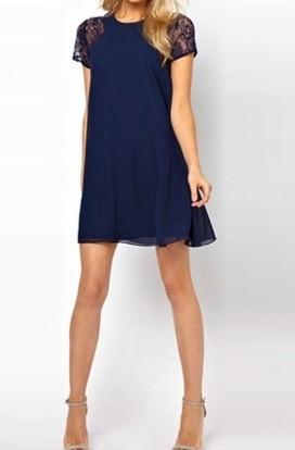 28358aa6d6896 Vestido Casual Femenino Fashion - Azul Oscuro