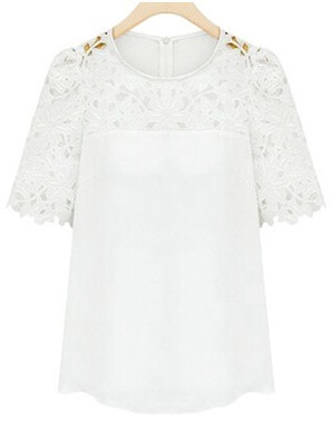 Lace Blouse for Spring - White