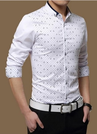 Social Shirt Fashion Slim Fit - Modern Design and Youth - in 4 Colors