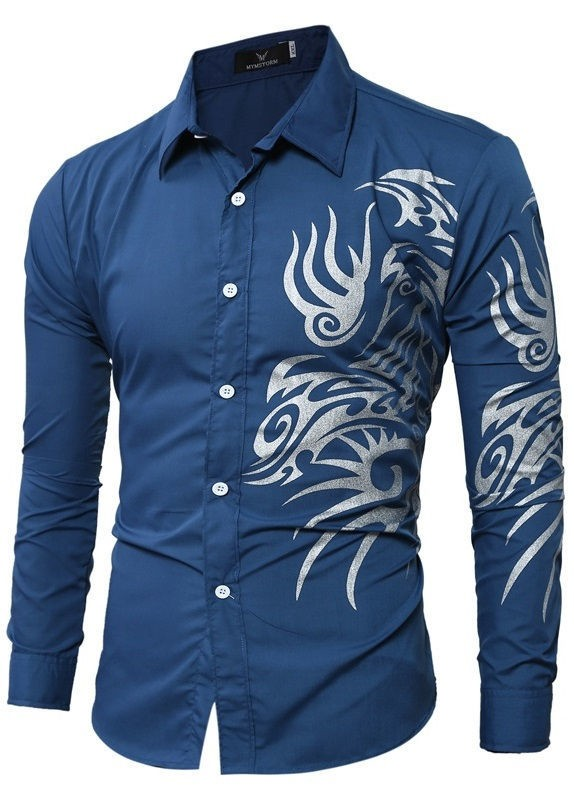 dc615c9f8f68e Camisa Jovem com Desenho Tribal Moderno - Cores Sólidos - em 7 Cores