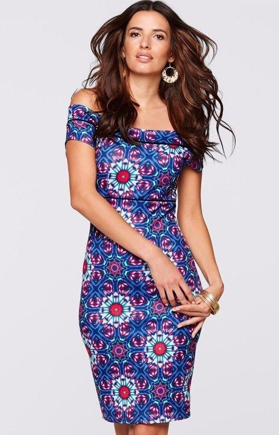 6a61d29f0 Vestido Strapless Estilo Romance - Floral - en Azul