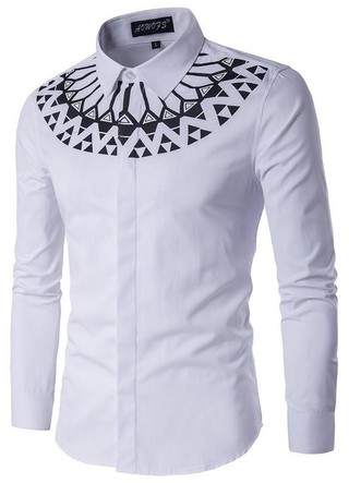 Fashion Shirt with Detail in the Bold Style Chest - White