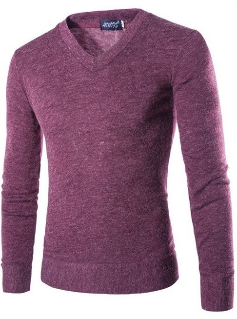 Sweater Fashion Suave para Primavera - Cuello en V - Purpura