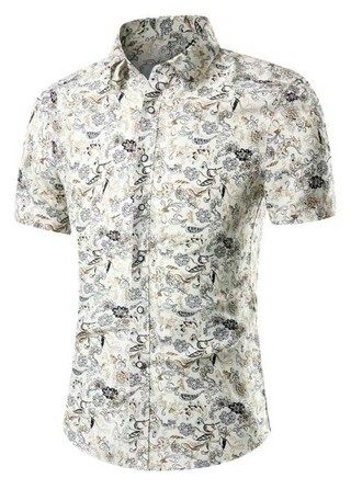 New Edge Short Sleeve Shirt - Classic Floral - Gray