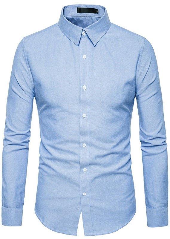57517a4fee Camisa Juvenil de Estilo Europeo - Cuello Americano - en 4 Colores - Camisas  de Hombre ...