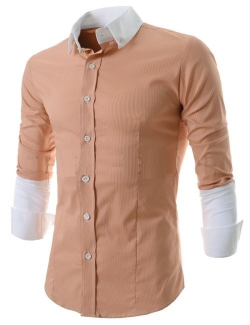 Camisa Casual Fashion a Rayas - Mangas y Cuello Bicolor - en 3 Colores
