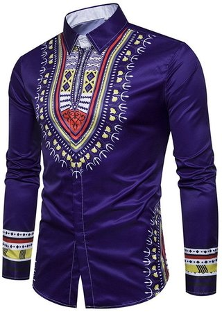Youth Fashion Shirt in Vibrant Colors - Hindu Design - in 5 Colors