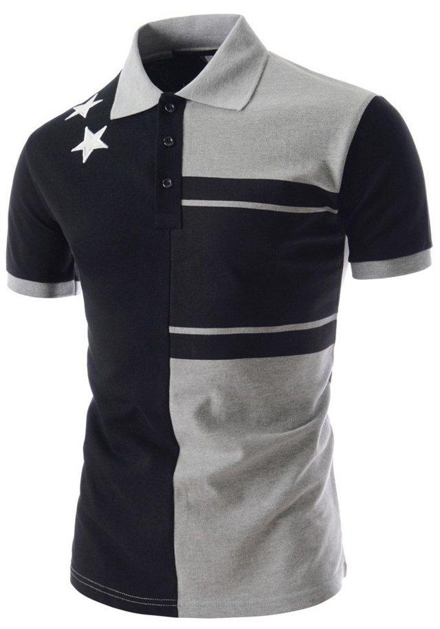 Camisa Tipo Polo Sport Juvenil Fashion con Detalles - en Blanco y Gris fb2d16bcd1374