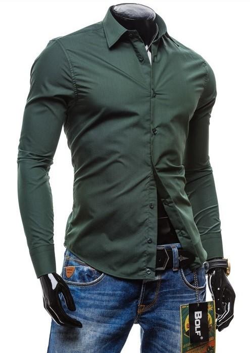 6464f4eb12 ... Camisa Sólida Moderna en Colores Jovenes - en 7 Colores - Camisas de  Hombre  Gran ...