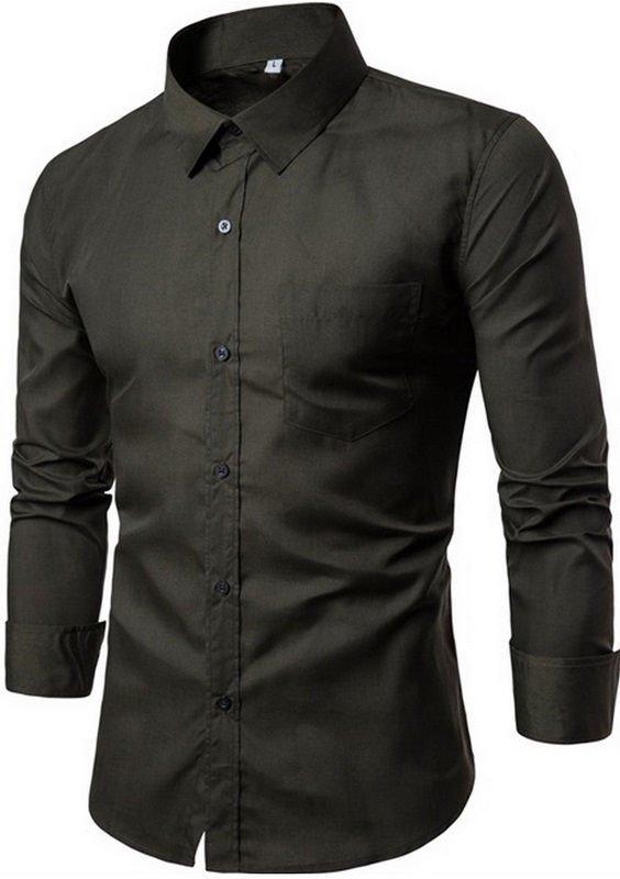 ... Camisa Lisa Fashion - Cores Vibrantes Jovens - en 16 Cores - Camisas de  Hombre  5be28100e8e