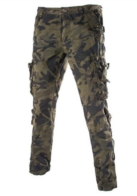 100% autentico 10d58 22b64 Pantalon Moderno de Camuflaje con Bolsillos Laterales - Verde Militar