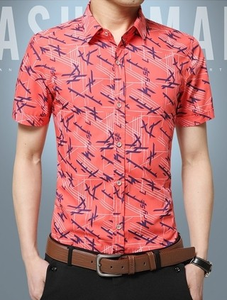 Short Sleeve Shirt Fashion - Young and Modern Design - in 4 Colors