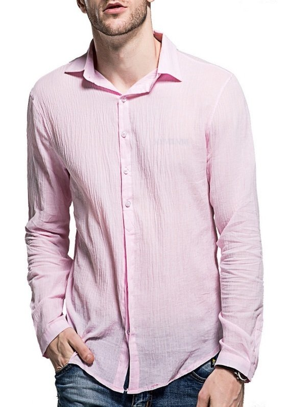 3927f6f329 Camisa Casual Fresca para Verano en Lino - Colores Claros - en 7 Colores