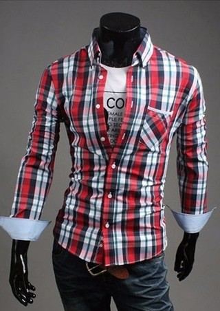 Casual Shirt to Classic Style Checkered - in 4 Colors