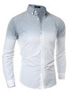 Camisa Casual Fashion Juvenil - Degrade Moderno - en Gris y Amarillo