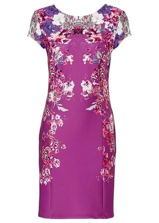 caf8ec51a5 Vestido Slim Fit Elegante Floral - en Gris