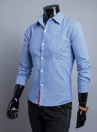 Checked Shirt with Casual Fashion in Detail Breasted - n 4 Colors