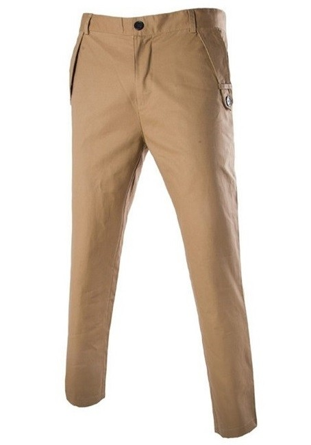 Pantalon Slim Fit Moderno Fashion - Khaki