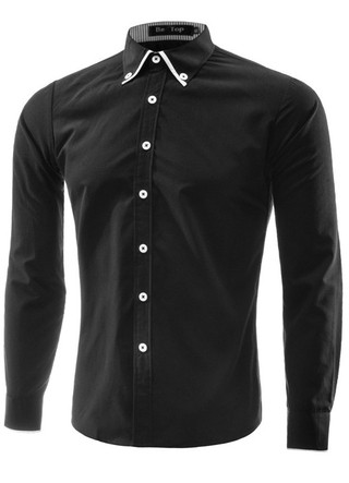 Social Classical Shirt - Detail Fashion - in Black and White