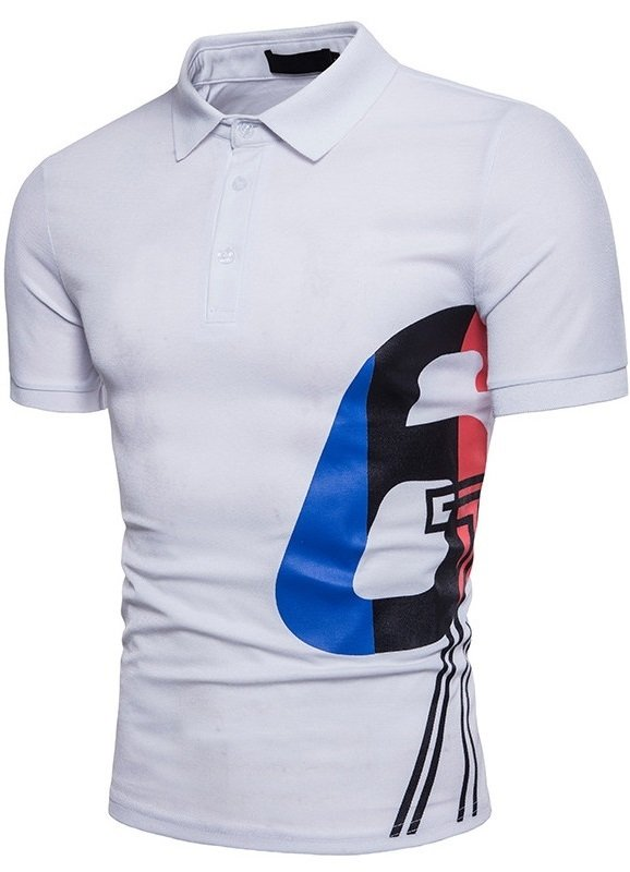 eb6185d32c1 Camisa Polo Juvenil en Color Sólido Estampada - en 4 Colores