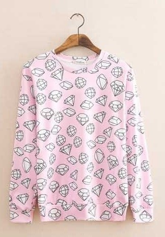 Sweater Femenino Fashion - Diamonds - Rosado