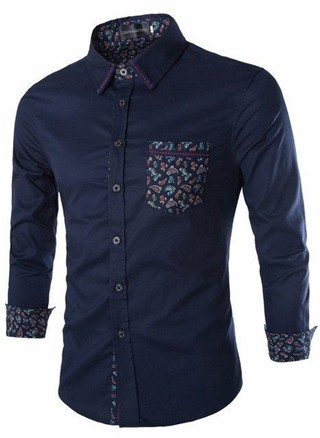 European Style Modern Youth Shirt - Floral Detail
