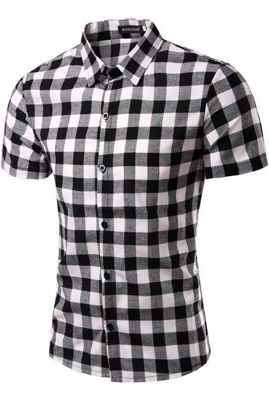 d03650f33f9e9 Camisa Manga Corta a Cuadros Fashion - Estilo Leñador - en 4 Colores -  Camisas de ...